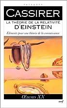 La theorie de la relativite d'einstein…