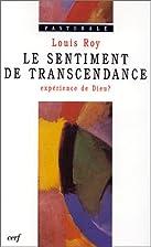 le sentiment de transcendance ; experience…