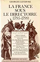The Directory by Georges Lefebvre