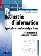 Recherche d'information - Applications,…