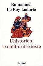 L'Historien, le chiffre et le texte (Divers…