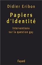 Papiers d'identité : Interventions sur la…