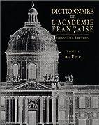 Dictionnaire de l'Académie…
