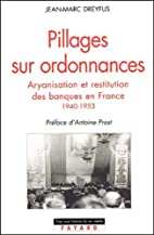 Pillages sur ordonnances :…