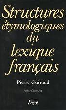 Structures étymologiques du lexique…