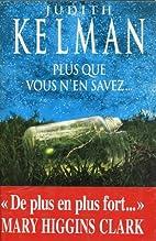 Plus que vous n'en savez (French Edition) by…