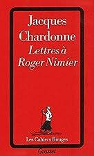 Lettres à Roger Nimier by Jacques…