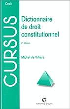 Dictionnaire de droit constitutionnel by…