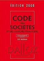 Code des sociétés et des marchés…