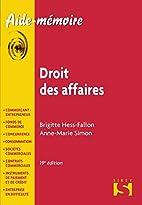droit des affaires (19e édition) by…