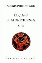 Leçons platoniciennes. Essai by…