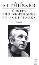 Ecrits philosophiques et politiques, tome 2…
