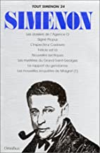 Tout Simenon, tome 24 (8 romans) by Georges…