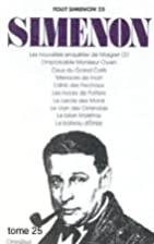 Tout Simenon, tome 25 (10 romans) by Georges…