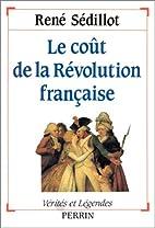 Le coût de la Révolution…