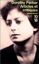 Articles et critiques by Dorothy Parker