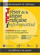 Trésor de la langue française…