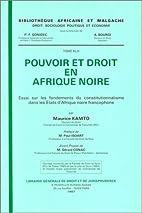 Pouvoir et droit en Afrique noire : essai…