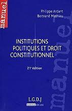 Institutions politiques et droit…