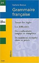Grammaire française by Nathalie Baccus