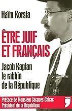 Etre juif et français: Jacob Kaplan,…