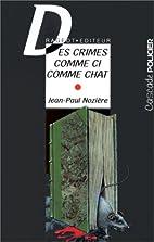 Des crimes comme ci comme chat by Jean-Paul…