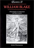 Oeuvres de William Blake, tome II by William…