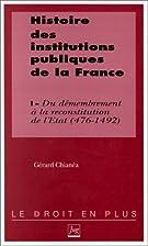 Histoire des institutions publiques de la…