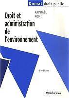 Droit et administration de l'environnement…