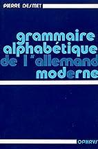 Grammaire alphabétique de l'allemand…