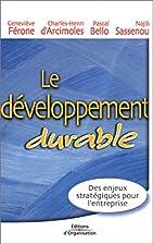 Le développement durable by Geneviève…