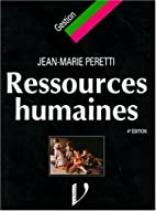 Ressources humaines by Jean-Marie Peretti