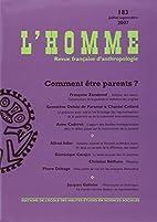 Revue l'Homme 183 Juillet/Septembre 2007 by…