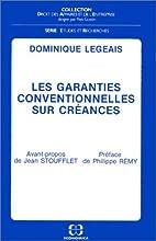 Les garanties conventionnelles sur creances…