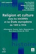 Religion et cultures des etats européens by…