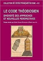 Le code théodosien: diversité…