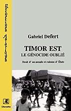 Timor-Est, le génocide oublié : droit d'un…
