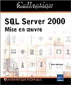 SQL server 2000 mise en oeuvre