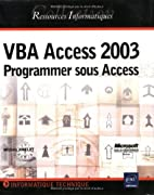 vba access 2003 ; programmer sous access…