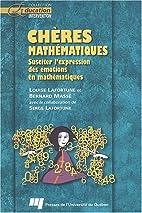 Chères mathématiques : susciter…