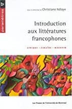 Introduction aux littératures francophones…