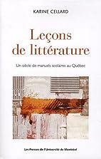 Leçons de littérature : un…