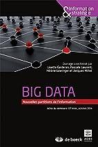 Big data: nouvelles partitions de…