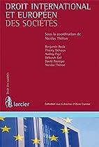 Droit international et européen des…