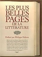 PLUS BELLES PAGES DE LA LITTÉRATURE…