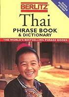 Berlitz Thai Phrase Book by Inc. Berlitz…