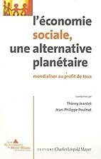 L'économie sociale, une…