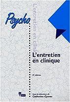 L'entretien en clinique by Catherine Cyssau