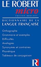 Le Robert Micro Poche(French Text)