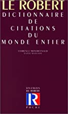 Dictionnaire de citations du monde entier by…